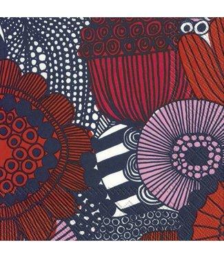 Marimekko Marimekko Siirtolapuutarha Papieren Servetten roze rood 33x33cm