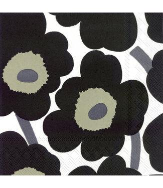 Marimekko Marimekko Unikko Paper Napkin 33x33cm Black