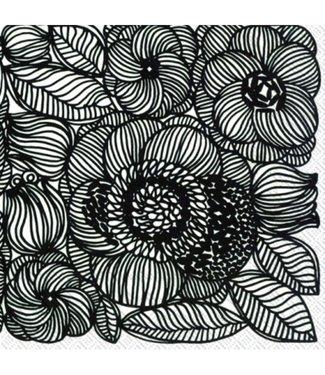 Marimekko Marimekko Kurjenpolvi Papieren Servetten 33x33cm zwart