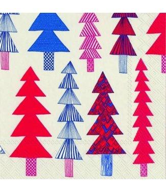 Marimekko Marimekko Kuusikossa Papieren Servetten 33x33cm rood