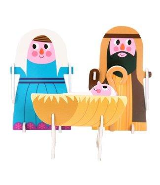 OMM Design OMM Design 3D Puzzle Crib Nativity Set