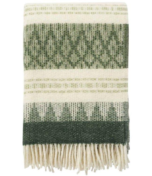 Klippan Klippan Freja plaid 130x200 made of 100% Swedish Wool green