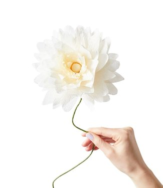 Studio About Studio About Papieren bloem Dahlia groot crème/geel