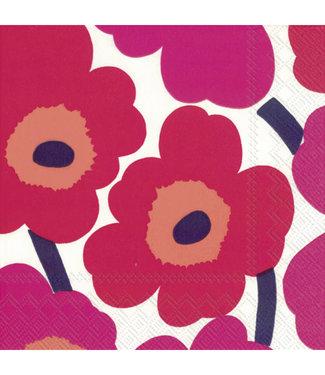 Marimekko Marimekko Unikko Papieren Servetten 33x33cm roze
