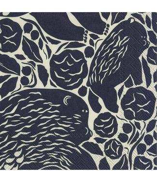 Marimekko Marimekko Karhuemo donkerblauw linnen Papieren Servetten 33x33cm