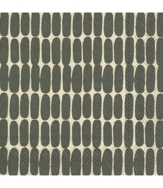 Marimekko Marimekko Alku Paper Napkin darkgreen linen 33x33cm
