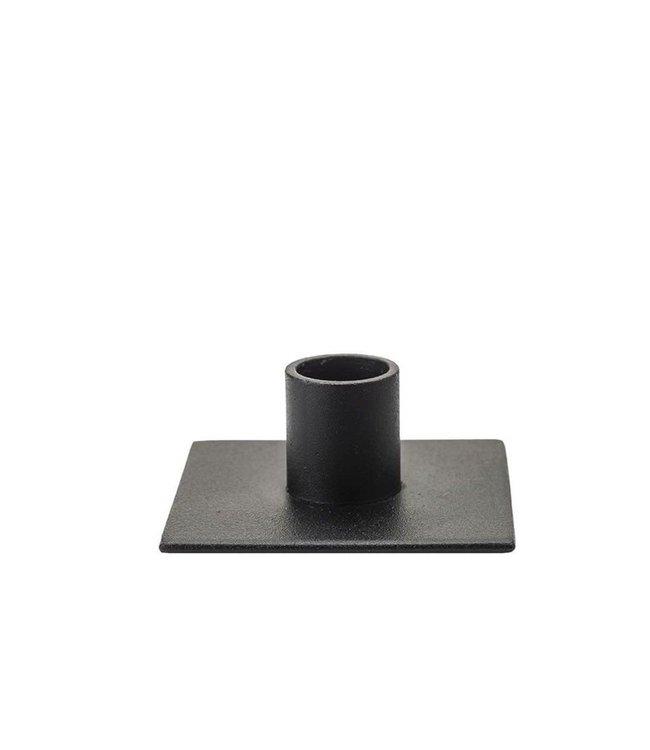 KunstIndustrien KunstIndustrien for Ø2.2cm candle metal matt black Candlestick square