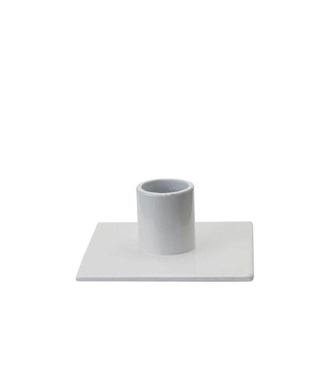 KunstIndustrien KunstIndustrien for Ø2.2cm candle metal white Candlestick square