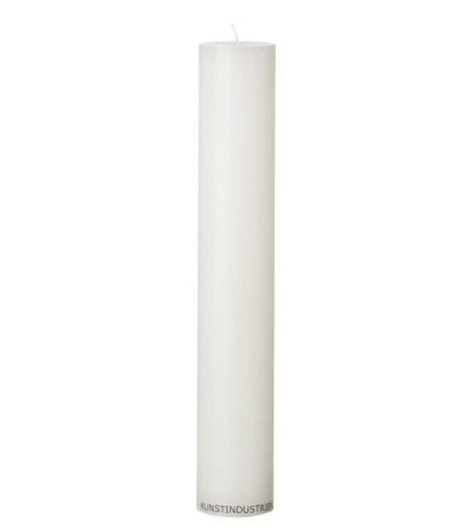KunstIndustrien KunstIndustrien Wax Alaar Candles white Ø5cm H30cm 90 burning hours
