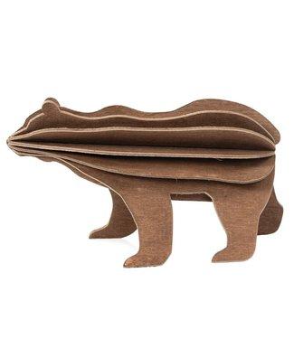 LOVI Lovi Brown Bear wood Birch plywood 3D-animal DIY package