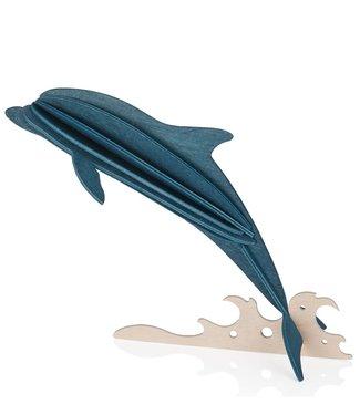 LOVI Lovi Dolfijn - verschillende kleuren - berkenhout 3D-dier DIY pakketje