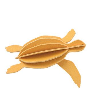 LOVI Lovi Schildpad Geel - 2 formaten - berkenhout 3D-dier DIY pakketje
