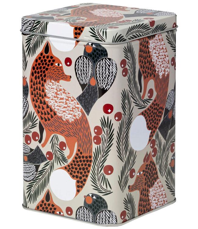 Marimekko Marimekko Ketunmarja tin box 11x11x17.5cm