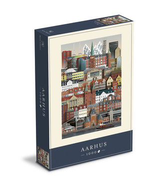 Martin Schwartz Martin Schwartz Aarhus jigsaw puzzle 1000 pieces – 50x70cm