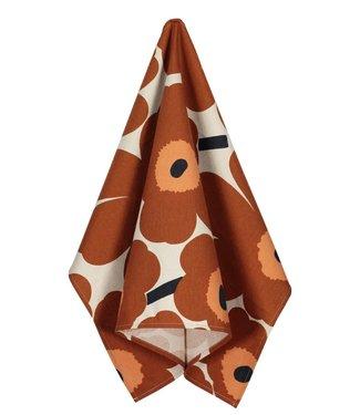 Marimekko Marimekko Unikko Tea Towel Linen-Cotton Chestnut