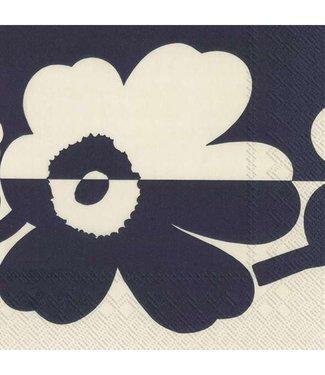Marimekko Marimekko Suur Unikko linnen blauw 33x33cm papieren servet