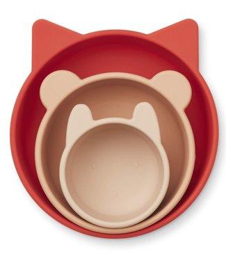 Liewood Liewood Eddie silicone bowls 3- Pack Apple/Red/Rose multi mix