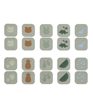 Liewood Liewood Easton silicone memory game Dove blue multi mix