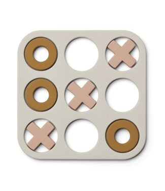 Liewood Liewood Siliconen 3 op een rij - Kelsey Tic Tac Toe Zand -