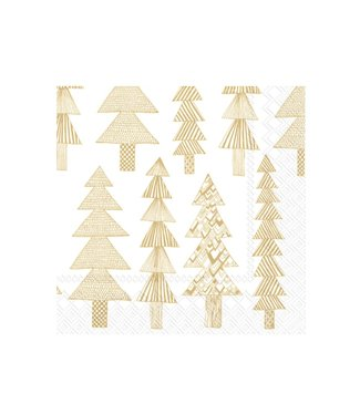 Marimekko Marimekko Kuusikossa gold cocktail 25x25cm paper napkin