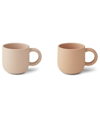 Liewood Liewood Merce silicone cup 2-pack rose mix with one handle