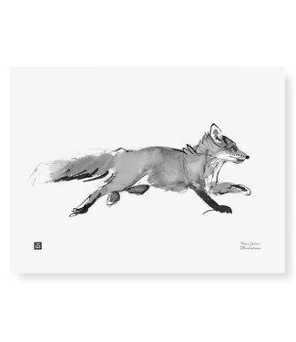 Teemu Järvi Teemu Järvi Poster Adventurous Fox 30 x 40 cm