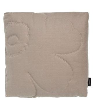 Marimekko Marimekko Unikko quilted dik kussen 45x45x10 cm beige incl. vulling