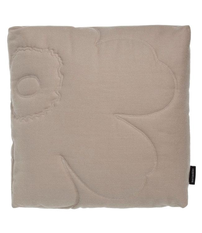Marimekko Marimekko Unikko quilted thick pillow 45x45x10 cm beige incl. filling