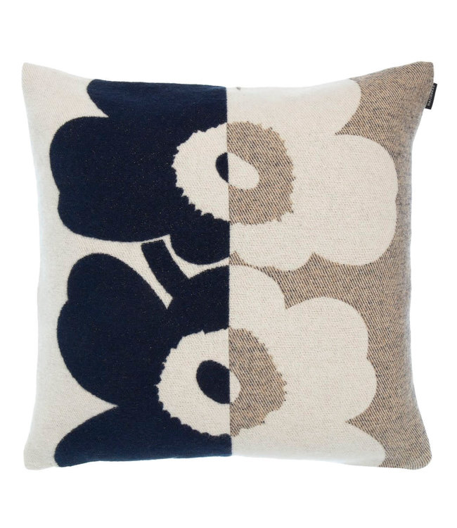 Marimekko Marimekko Unikko cushion cover 50x50 cm dark blue wool with cotton