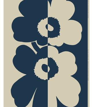 Marimekko Marimekko Suur Unikko stof katoen linnen mix donkerblauw