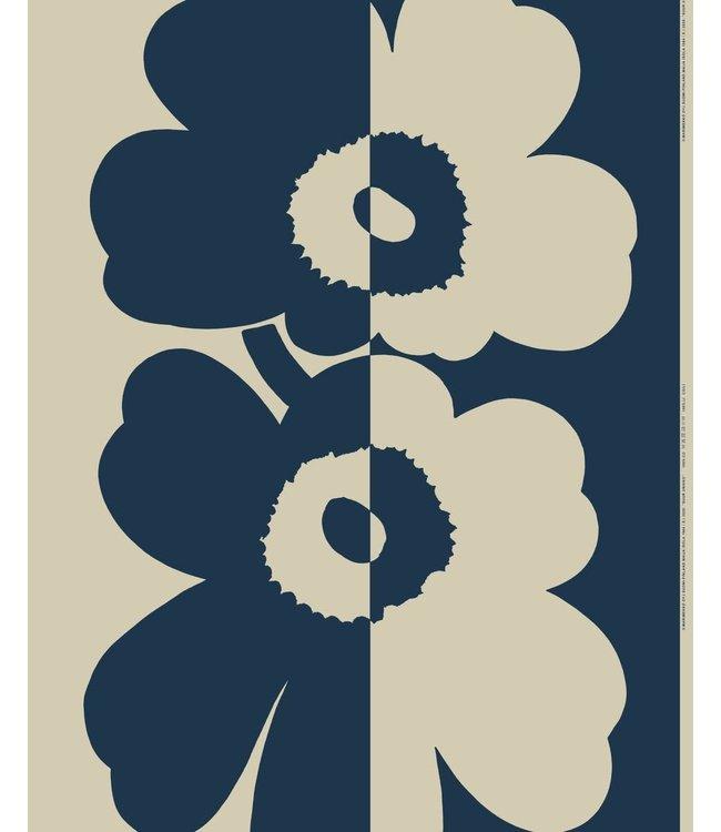 Marimekko Marimekko Suur Unikko fabric cotton linen mix dark blue