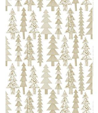 Marimekko Marimekko Kuusikossa stof Gold Metal cotton panama fabric