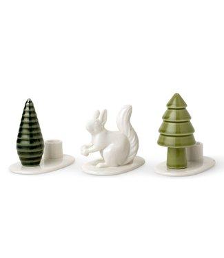 Dottir Dottir Flock Squirrel Candle set of 3 Winter Stories