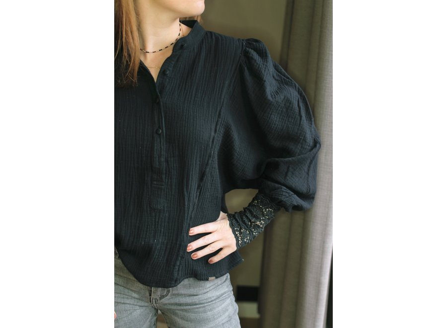 Lilly Blouse Balloon Black