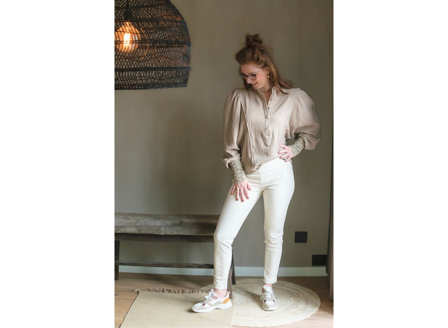 Norma Jenna Leather Off White