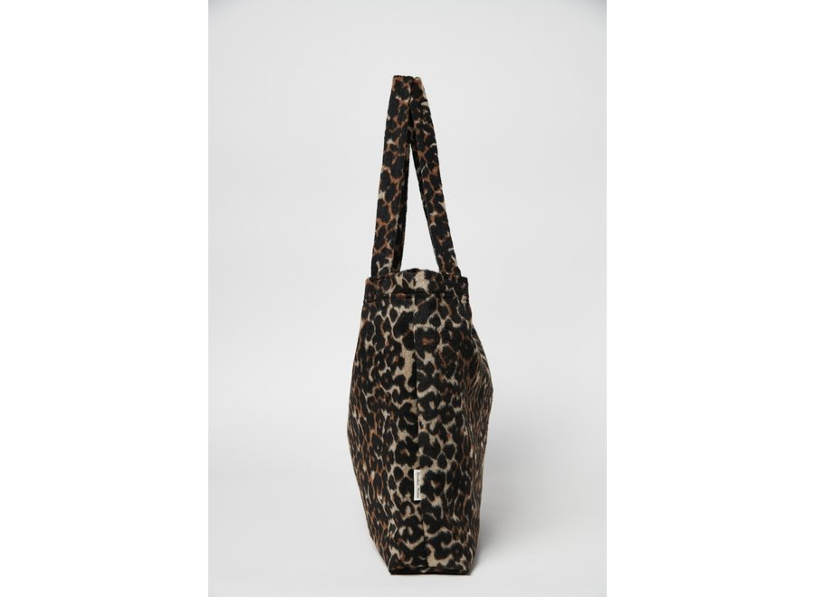 Brown Jaguar Mom-Bag