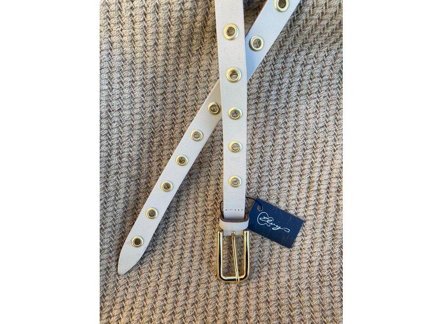 Elvy Belts – Eyelets beige/goud