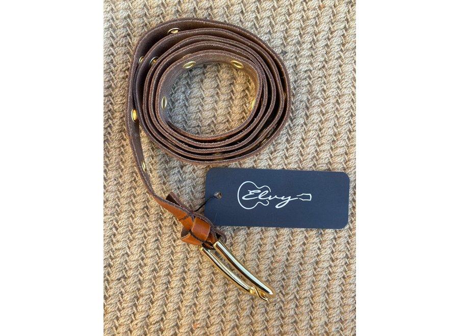 Elvy Belts – Eyelets cognac/goud