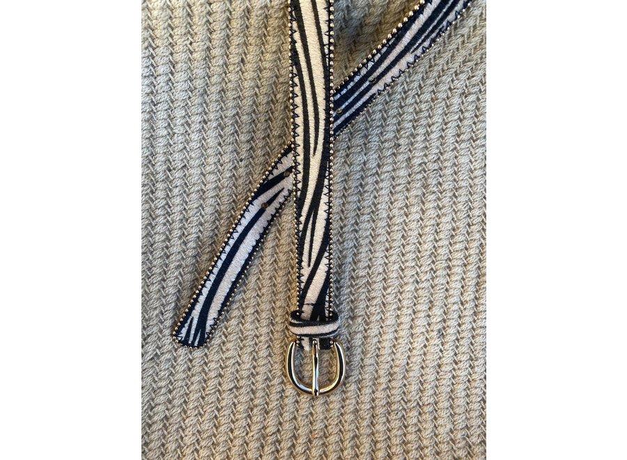 Elvy Belts – Zebra