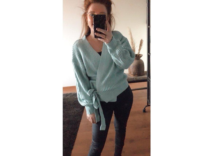 Blauw Wrap Cardigan