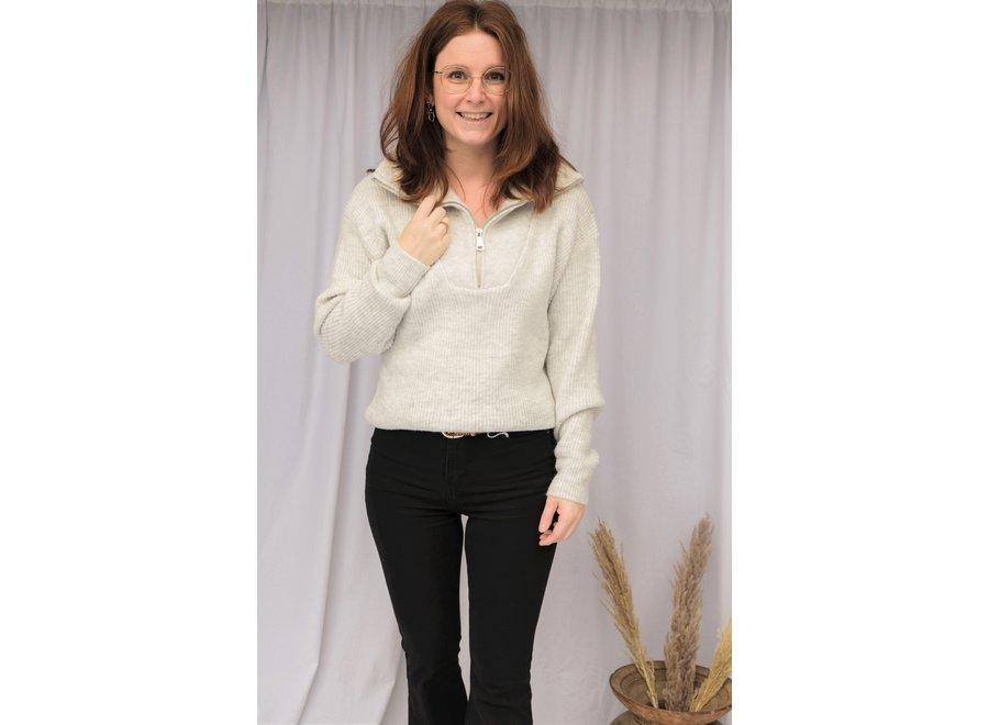 Zipper Knit Grey