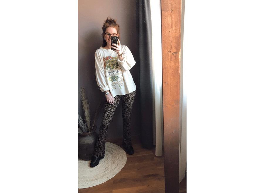 Flower Sweatshirt Ecru