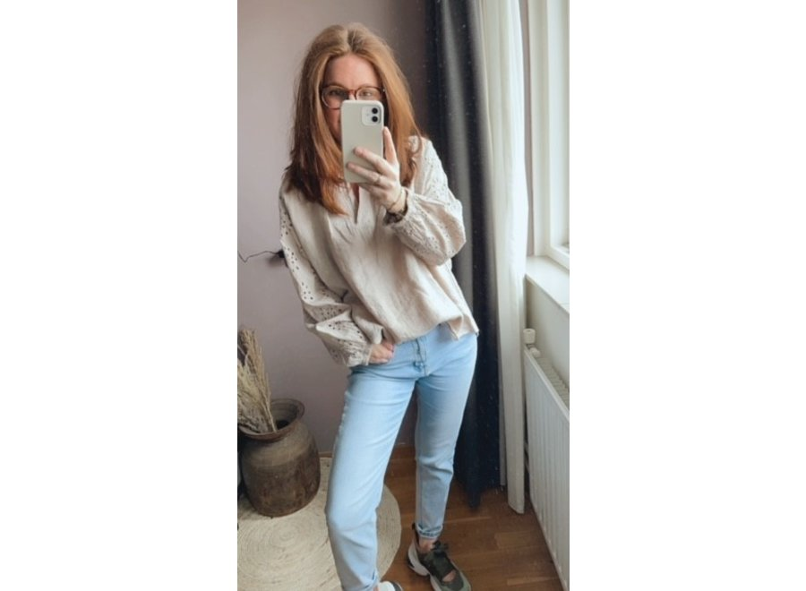 Evy Blouse Taupe