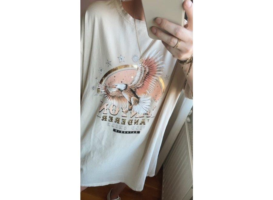 Printed Shirt Dresses Beige