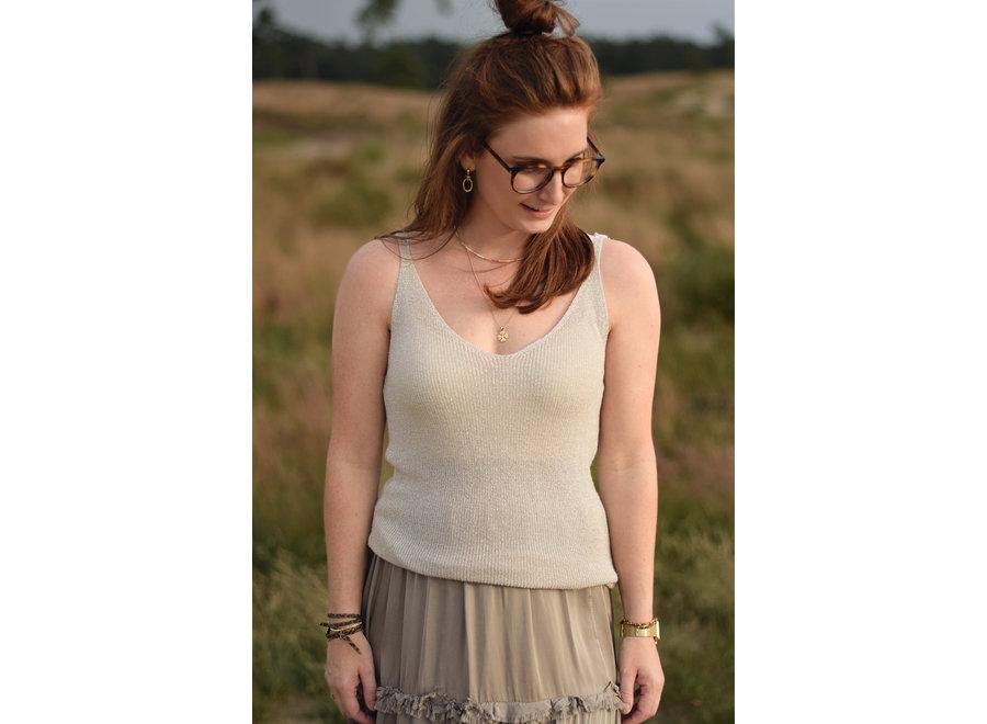 Lily Lurex Top Singlet