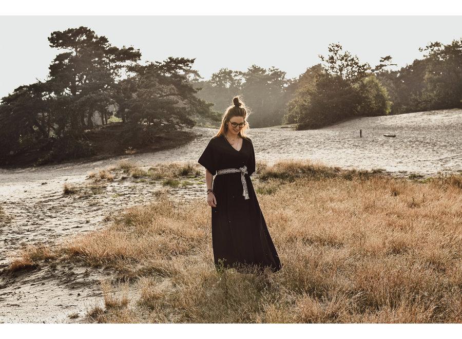 Maxi Cotton Dress Zwart