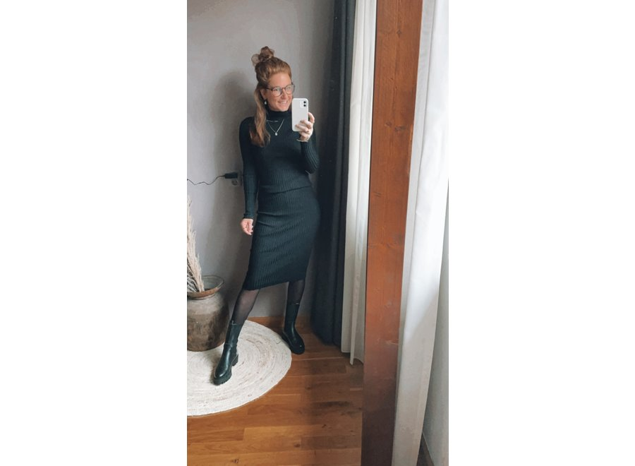 Coll Dress Black