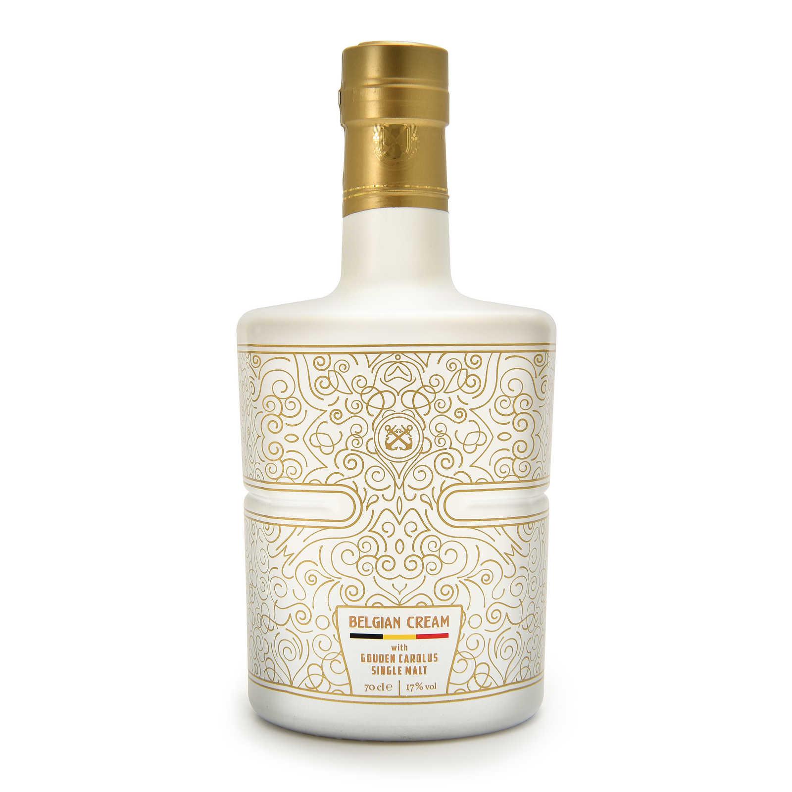 Belgian Cream met Gouden Carolus Single Malt Whisky - roomlikeur - Brouwerij Het Anker - 70cl - 17%