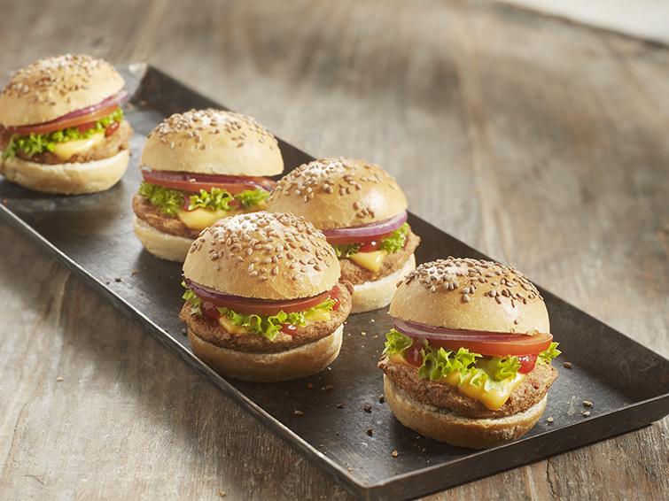 Mini Hamburgers 2 stuks + broodje