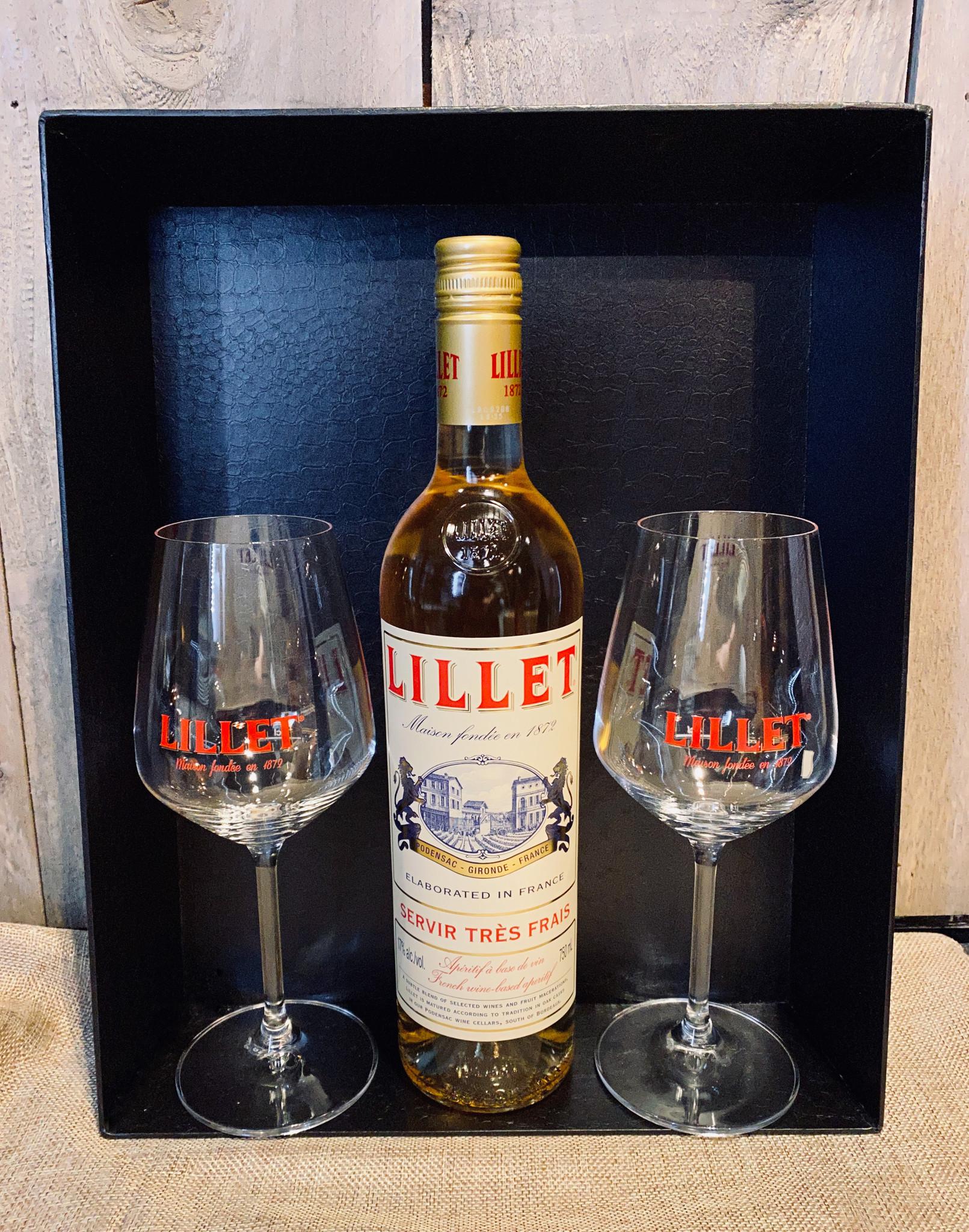 Lillet Blanc mand + 2 gratis glazen